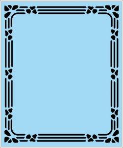 Pískované zrcadlo 50x60
