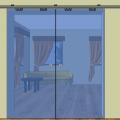 Celoskleněné posuvné dveře 05