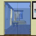 Celoskleněné dveře 010