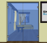 Dveře kyvné dvoukřídlé - K2