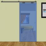 Dveře posuvné na stěnu - jednodílné P1