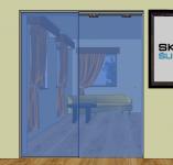 Dveře posuvné ve stavebním otvoru s pevným dílem P3