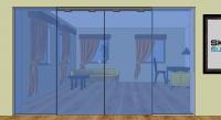 DP4 - Dveře posuvné dvoudílné ve stavebním otvoru s dvěma pevnými díly