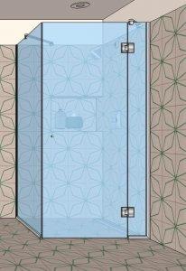 S3 - Rohový sprchový kout