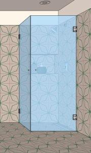 S1 - Rohový sprchový kout